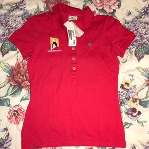 Lacoste Australian Open Red Stretch Polo Shirt: 40